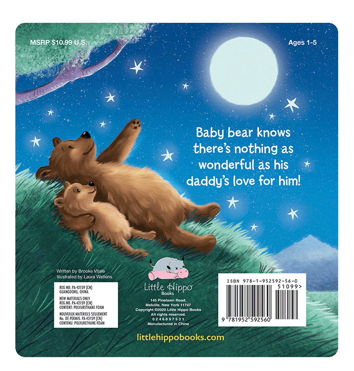 I Love You Daddy Little Hippo Books Children's Chunky Padded Board Book Bedtime Story family