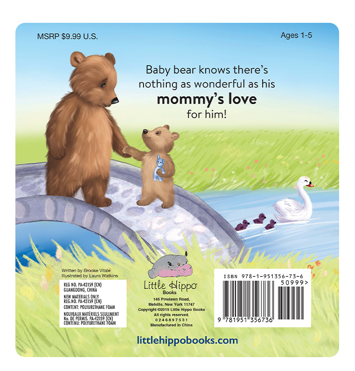 I Love You, Mommy Little Hippo Books Children's Chunky Padded Board Book Bedtime Story family