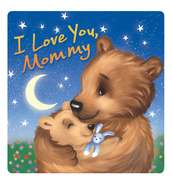 I Love You Mommy Little Hippo Books Children's Chunky Padded Board Book Bedtime Story family
