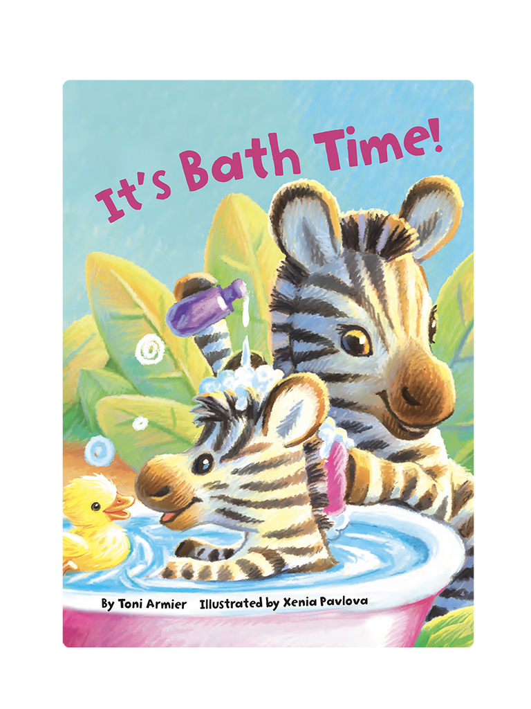 It's Bath Time Little Hippo Books Children's Padded Board Book Bedtime Story