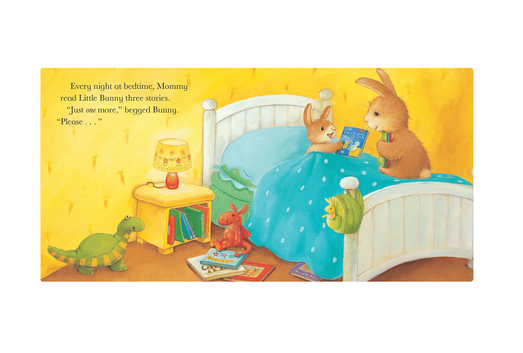Little Hippo Just One More Padded Board Children's Book bedtime rabbits