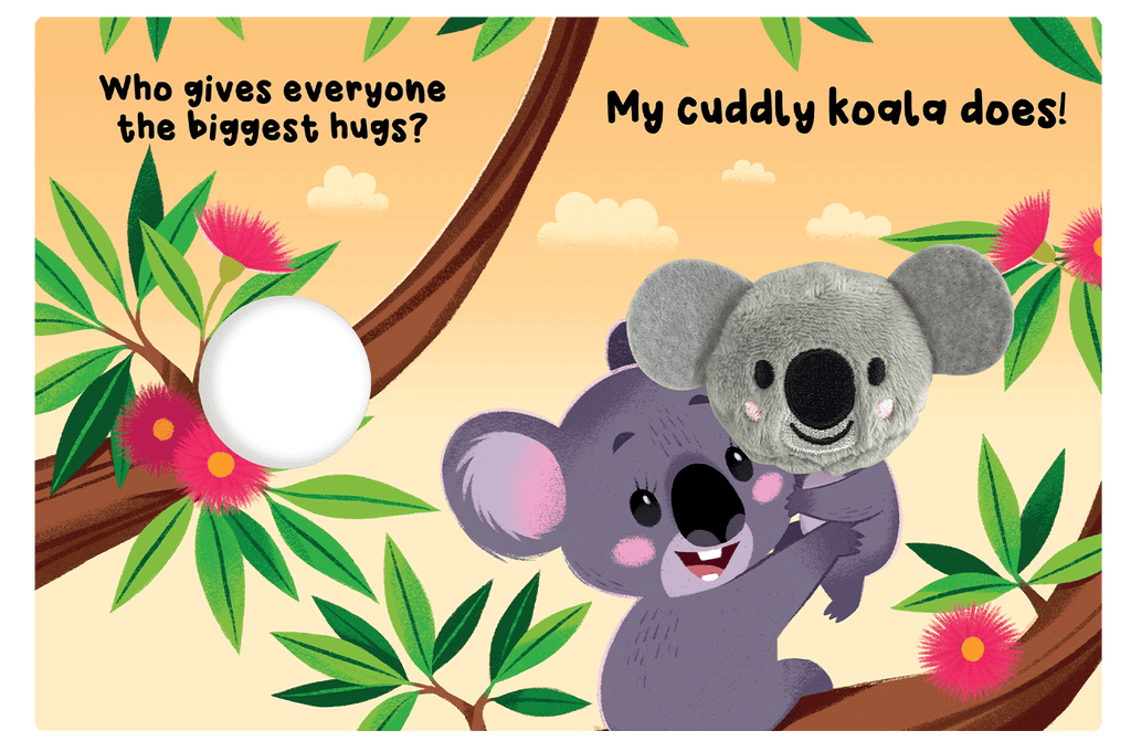 Little Hippo: Finger Puppet Cuddly Koala Family Hugs
