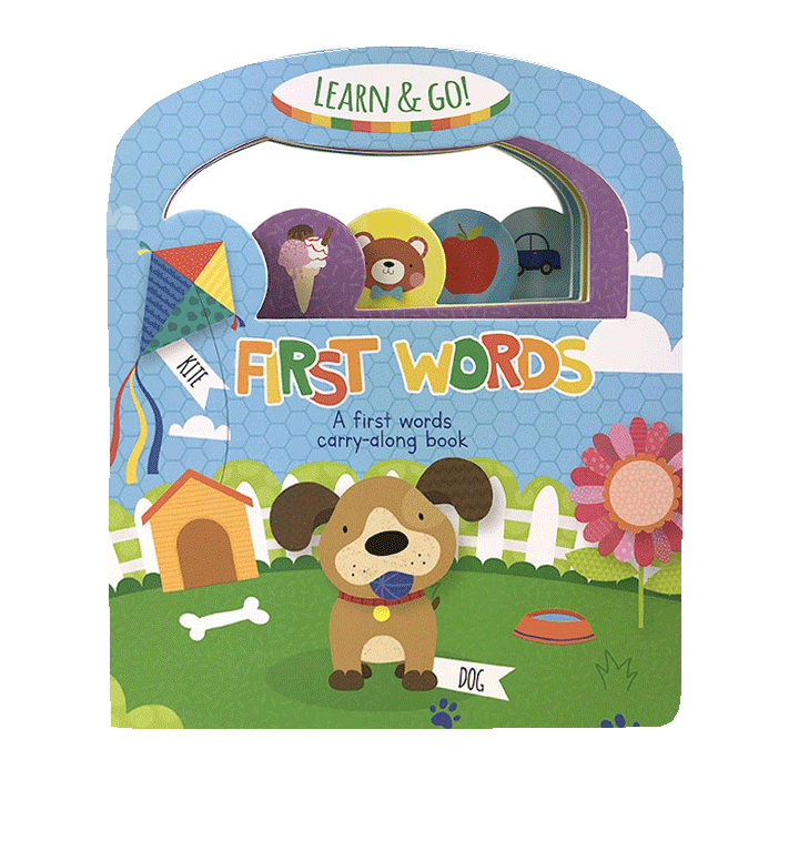 Little Hippo Books Learn and Go First Words Children's Board Book