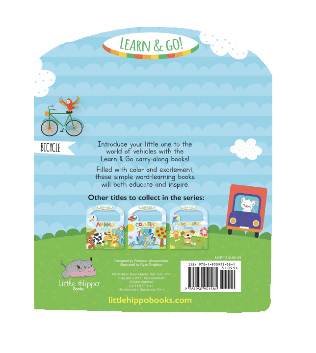 Little Hippo Books Vehicles Children's Board Book Learning
