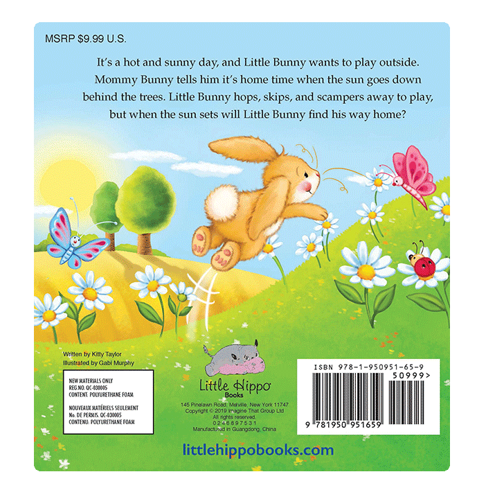 Little Hippo Little Bunny's Home Time Padded Board Children's Book bedtime bunny