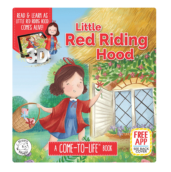 little hippo books classic bedtime padded board book children fairy tale augmented reality little red riding hood