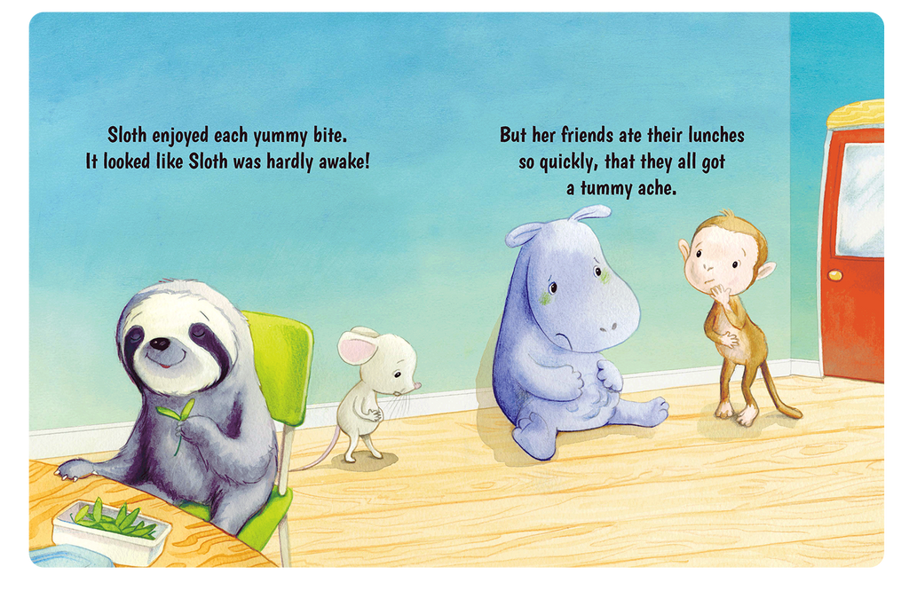 Hurry Hurry Little Sloth Little Hippo Books Children's Padded Board Book Bedtime Story friendship