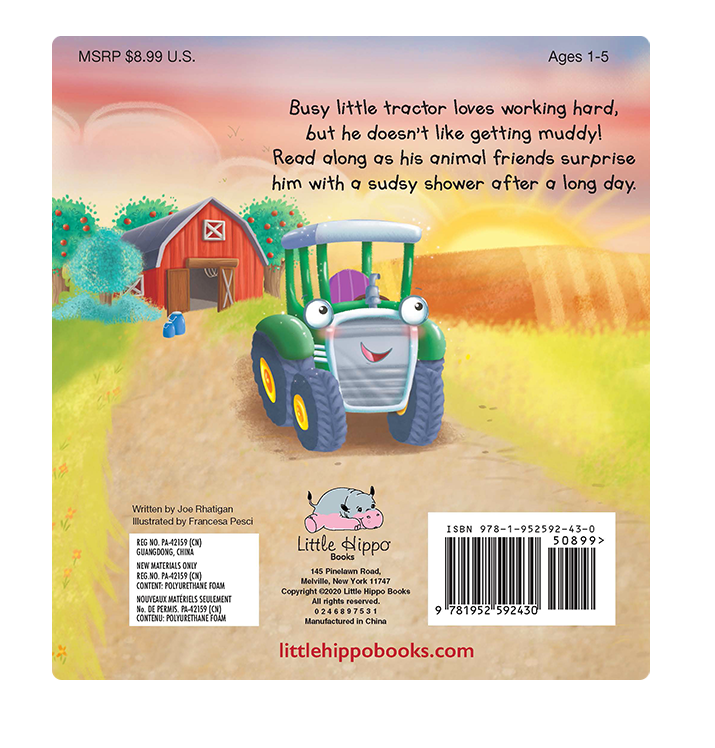 Little Hippo Books Little Tractor's Busy Day Farm Animals Barn Boys Girls Children Kids Books Bedtime