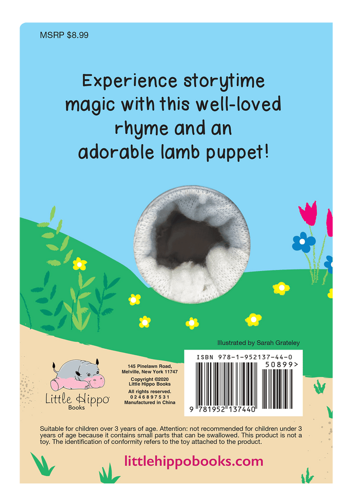Little Hippo: Finger Puppet Animal Children Mary Had A Little Lamb classic family bedtime friendship