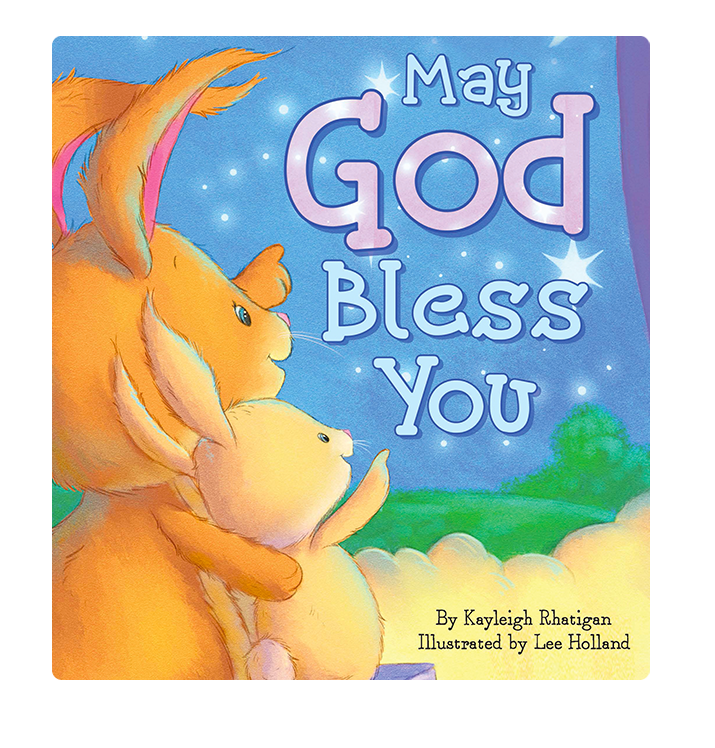 May God Bless You Love Little Hippo Books Children's Padded Board Book Bedtime Story family religious