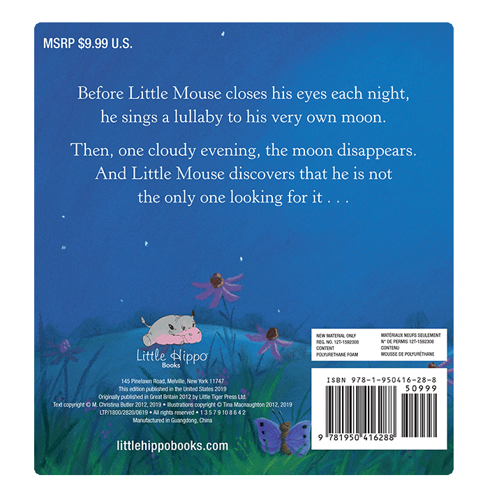Little Hippo Mouse and the Moon Padded Board Children's Book bedtime animals
