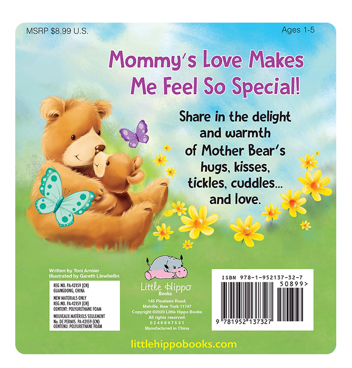 My Mommy Loves Me Little Hippo Books Children's Padded Board Book bedtime mom family love bear