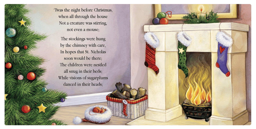 Little Hippo Books 'Twas the Night Before Christmas Classic Holiday Boys Girls Children Kids Padded Board Book