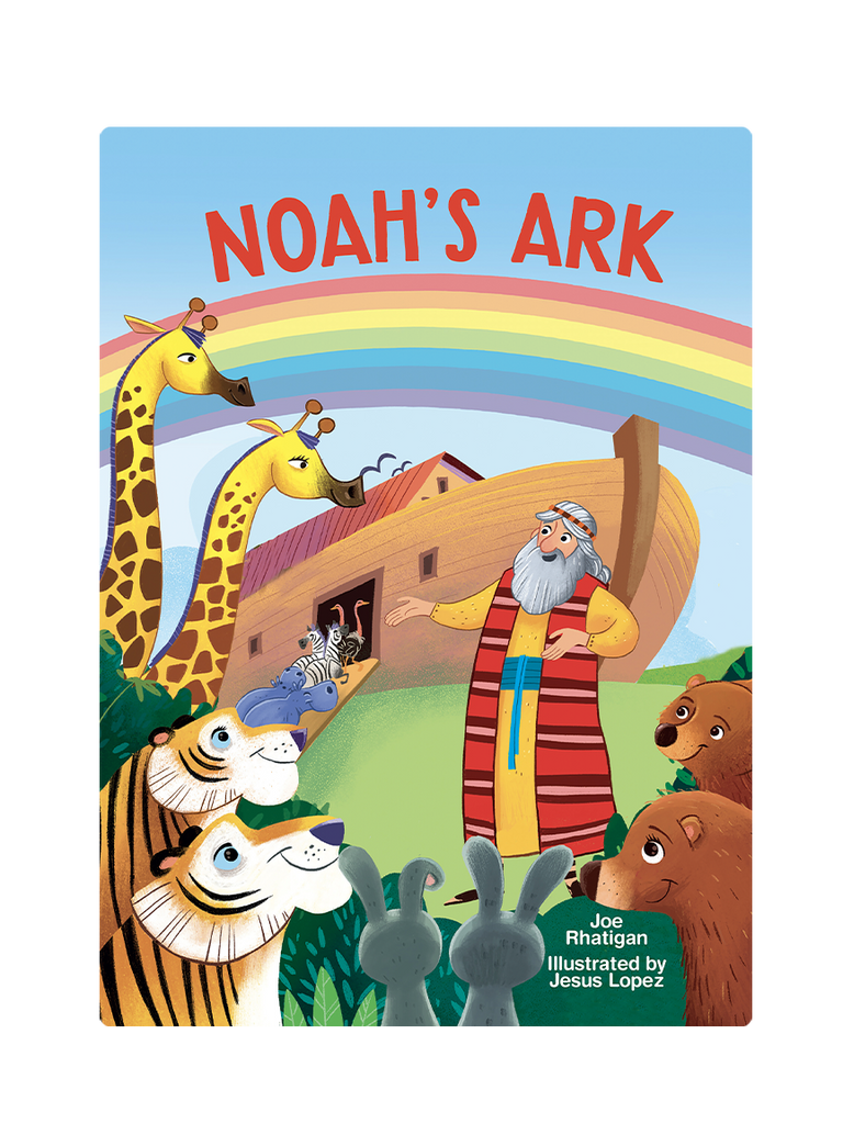 Noah's Ark Little Hippo Books Children's Padded Board Book Bedtime Story family religious