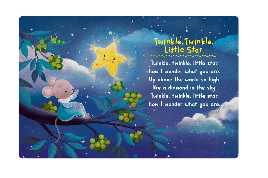 Little Hippo Books Children's Padded Board Book Bedtime Story classic nursery rhymes Twinkle, Twinkle Little Star Hey, Diddle, Diddle Hickory, Dickory Dock Mary Had a Little Lamb Humpty Dumpty Itsy Bitsy Spider Jack and Jill There Was an Old Woman This Little Piggy