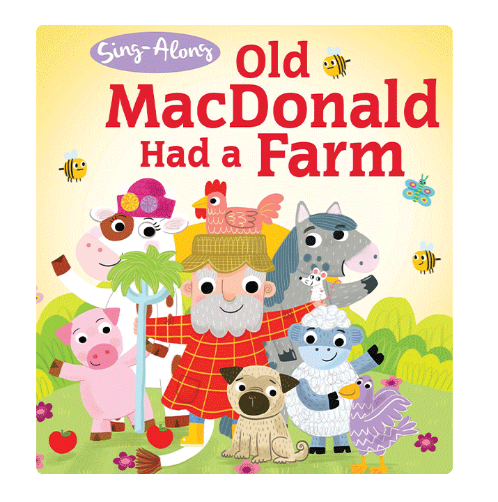 Little Hippo Old MacDonald Had A Farm Padded Board Children's Book classic singalong