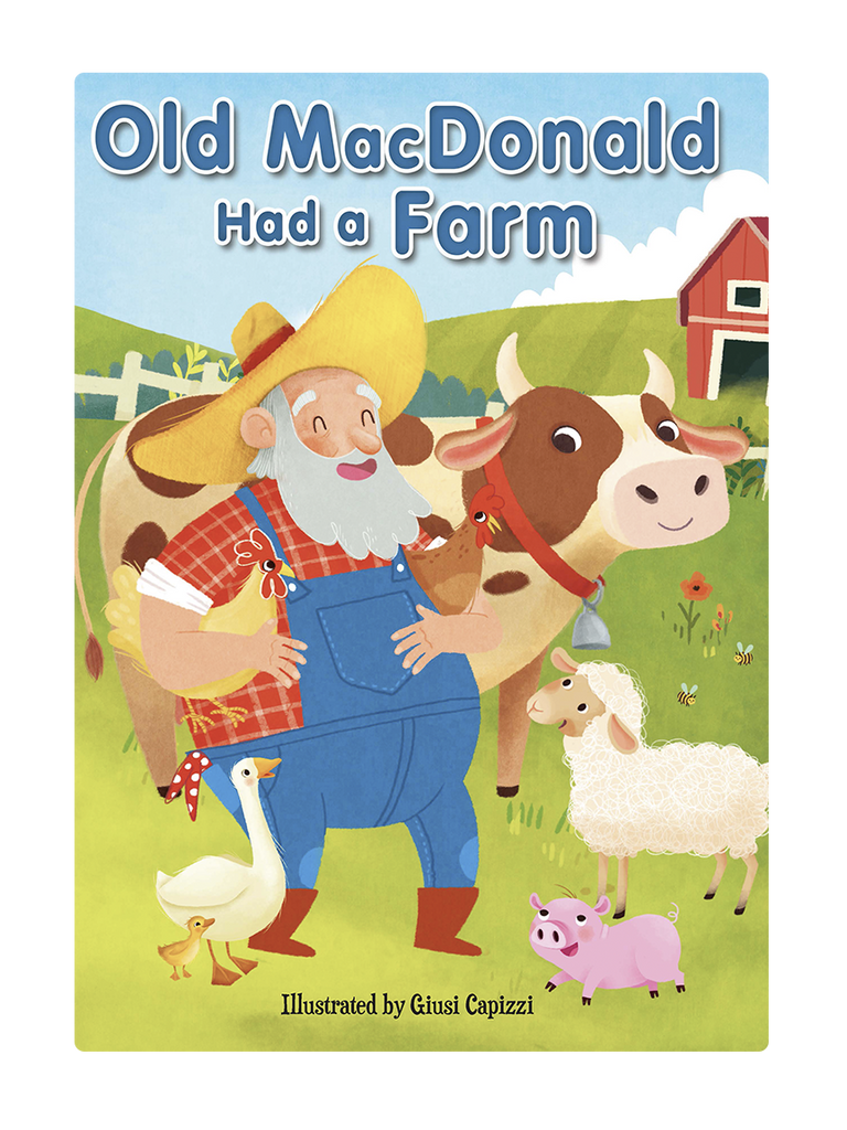 Old MacDonald had a farm Little Hippo Books Children's Chunky Padded Board Book Bedtime Story family animals sing-along