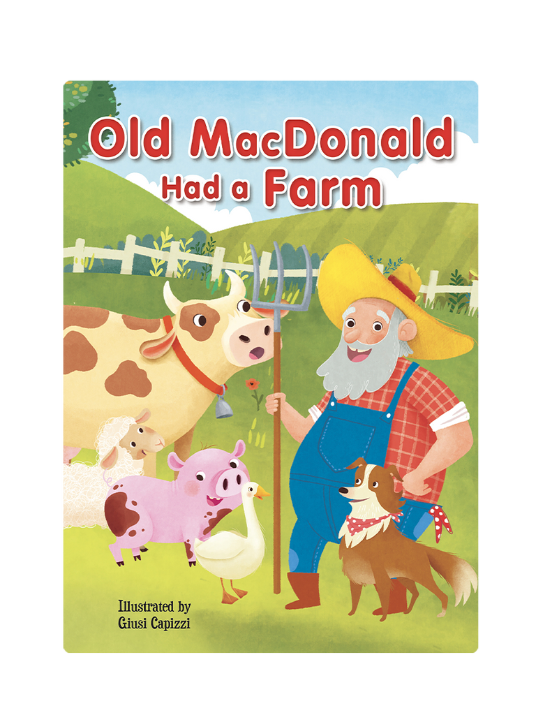 Old MacDonald had a farm Little Hippo Books Children's Padded Board Book Bedtime Story family animals sing-along