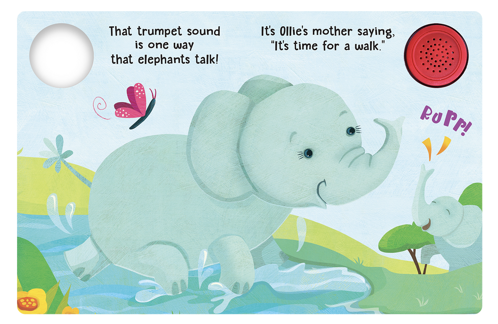 Ollie the Elephant - Little Hippo Books Sound Book - Children's Board Book - Interactive Fun Child's Book - Book for Boys or Girls - animals