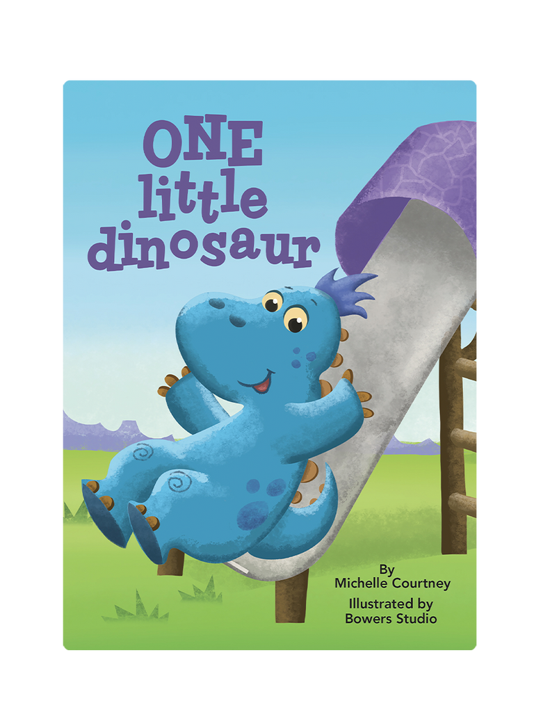 One Little Dinosaur Little Hippo Books Children's Padded Board Book Bedtime Story counting