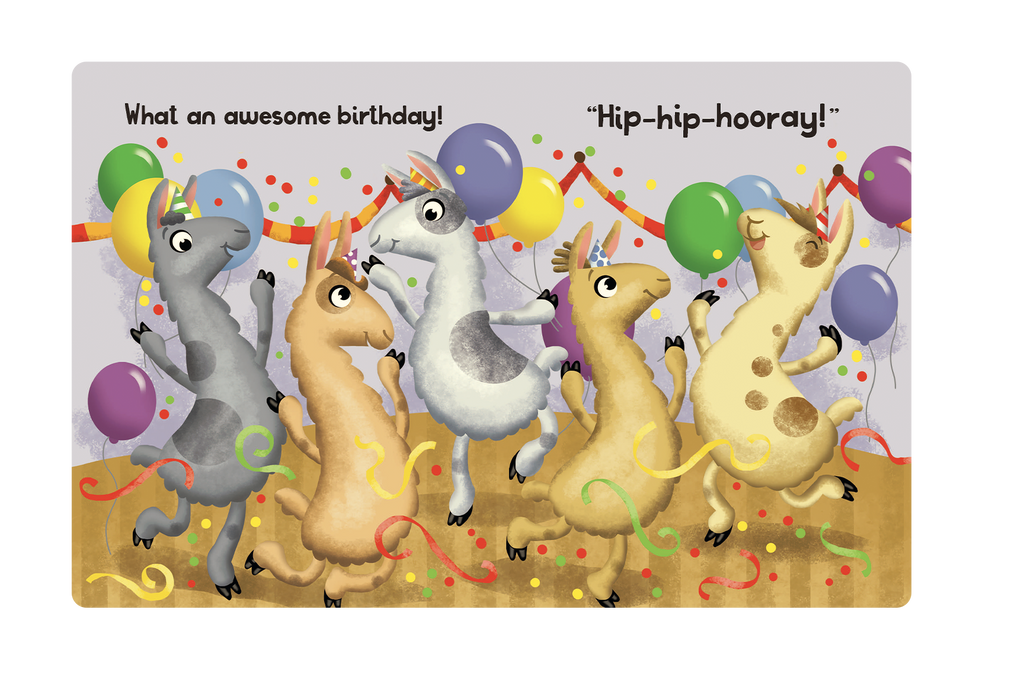Little Hippo Books Children's Padded Board Book Bedtime Story one little llama counting birthday surprise learning