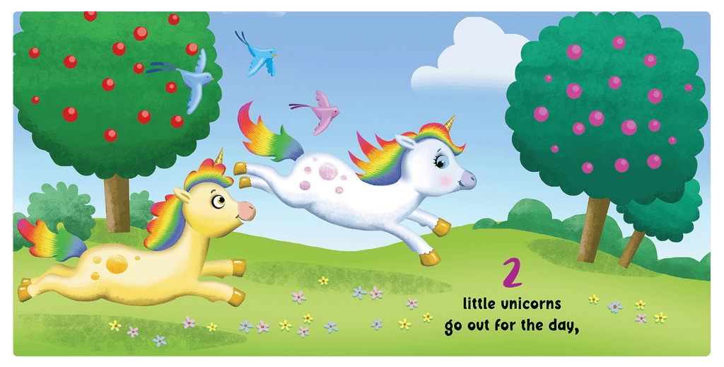 One Little Unicorn Little Hippo Books Children's Chunky Padded Board Book Bedtime Story friendship counting learning