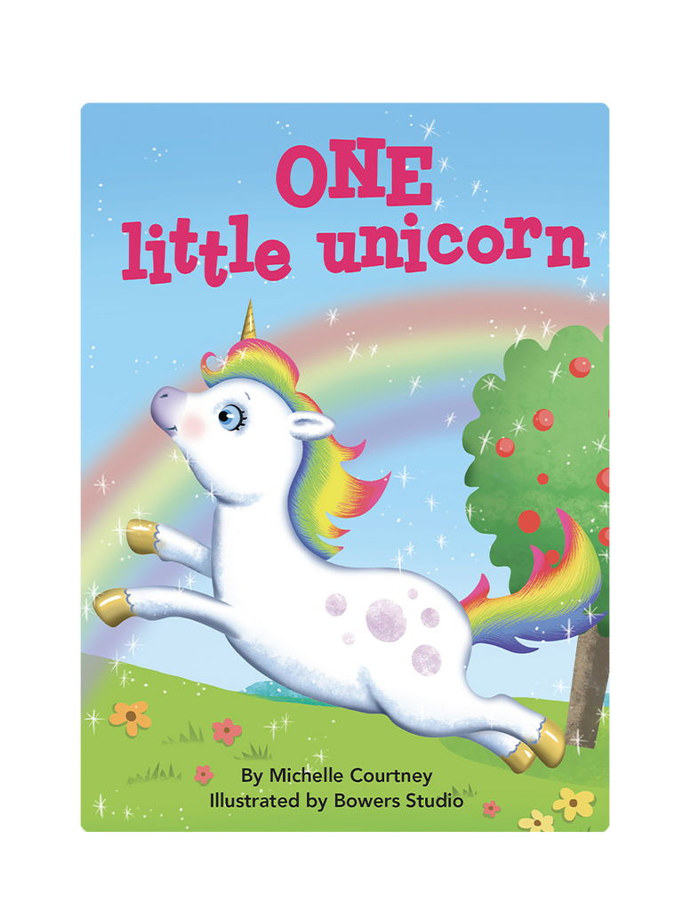 One Little Unicorn Little Hippo Books Children's Padded Board Book Bedtime Story family counting