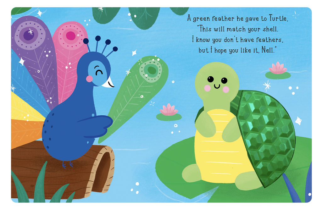 Peacock's Rainbow Feathers by Little Hippo Books
