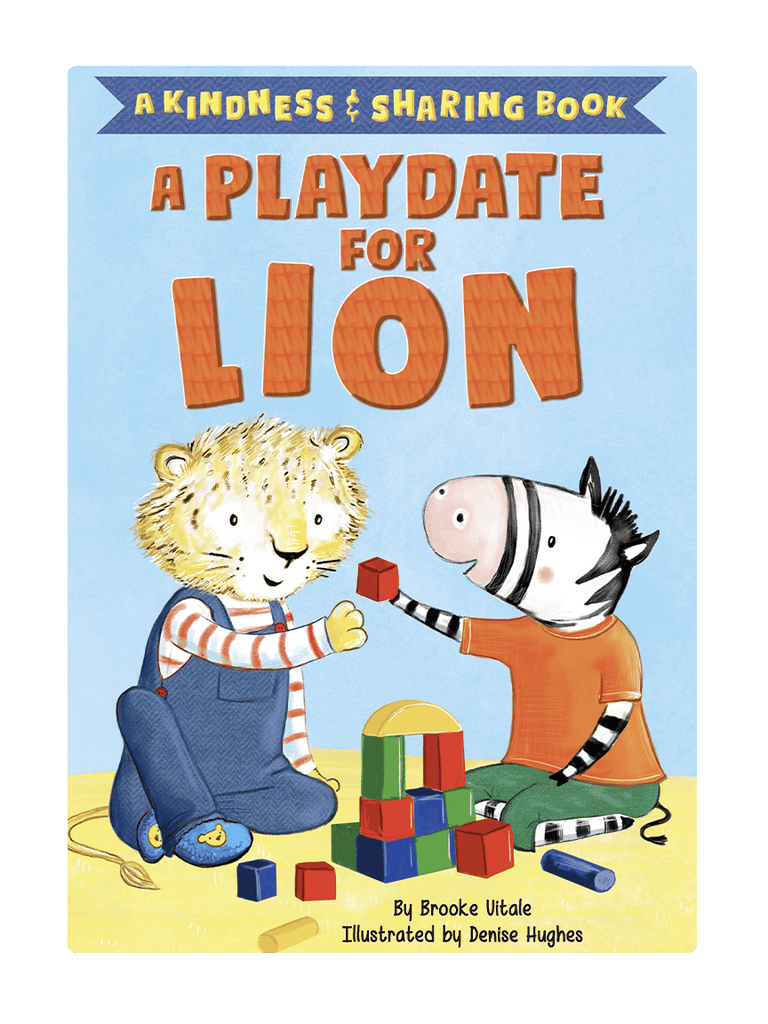 Kindness and Sharing Book Playdate for Lion Little Hippo Books Children's Padded Board Book Bedtime Story friendship