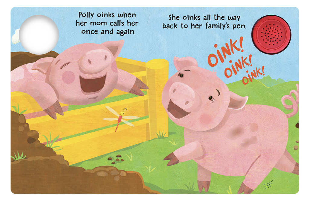 Polly the Pig - Little Hippo Books Sound Book - Children's Board Book - Interactive Fun Child's Book - Book for Boys or Girls - animals