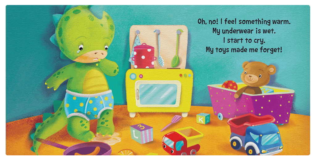 Little Hippo Books Pottysaurus Toilet Training Baby Boy Girl Kid Children Padded Board Book Learning