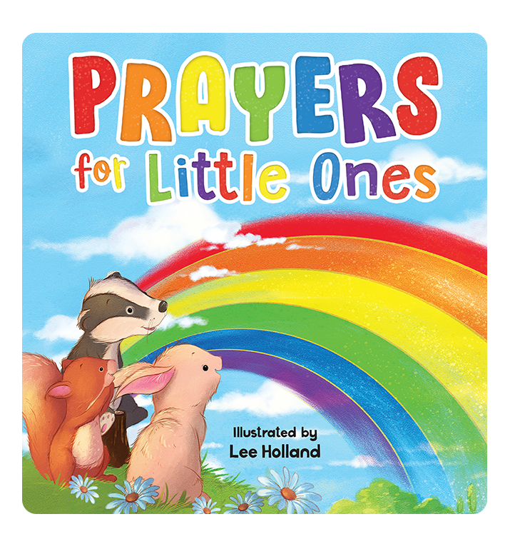 Prayers for Little Ones Little Hippo Books Children's Padded Board Book bedtime prayers religious religion christian