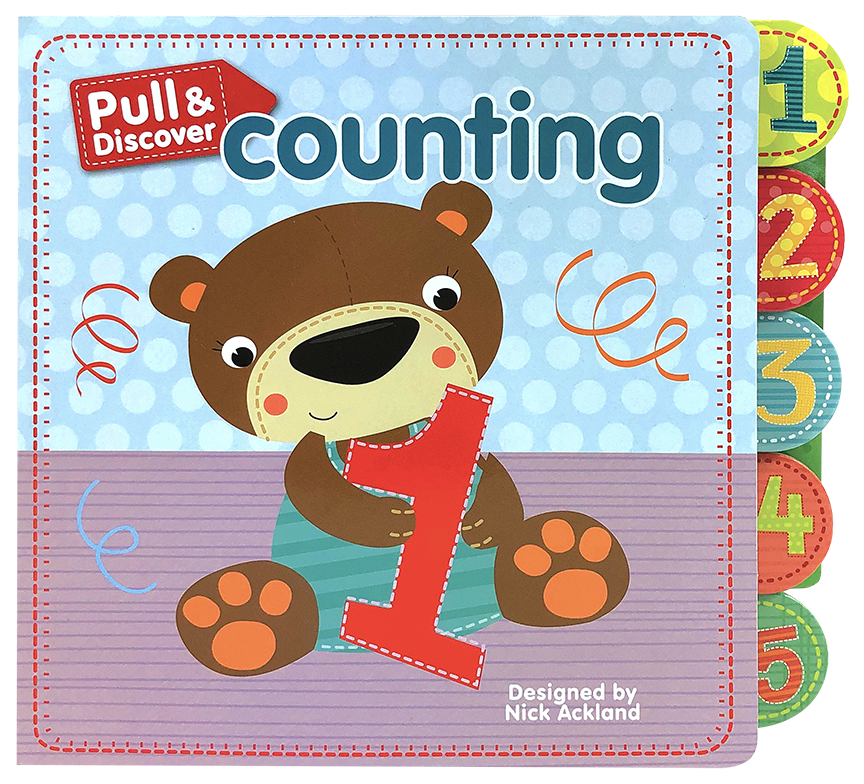Little Hippo Early Pull Discover Counting Padded Board Book Children Learning