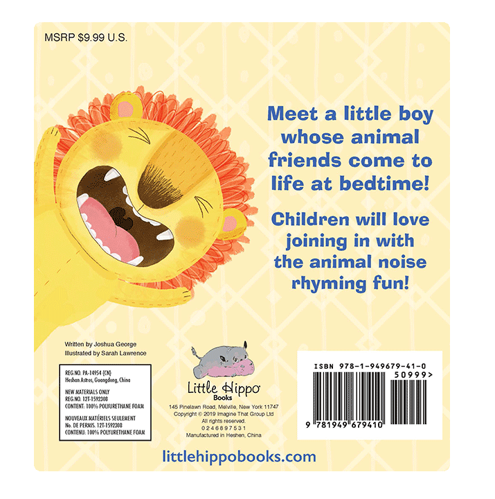 Little Hippo Roar! Went the Lion Padded Board Children's Book bedtime