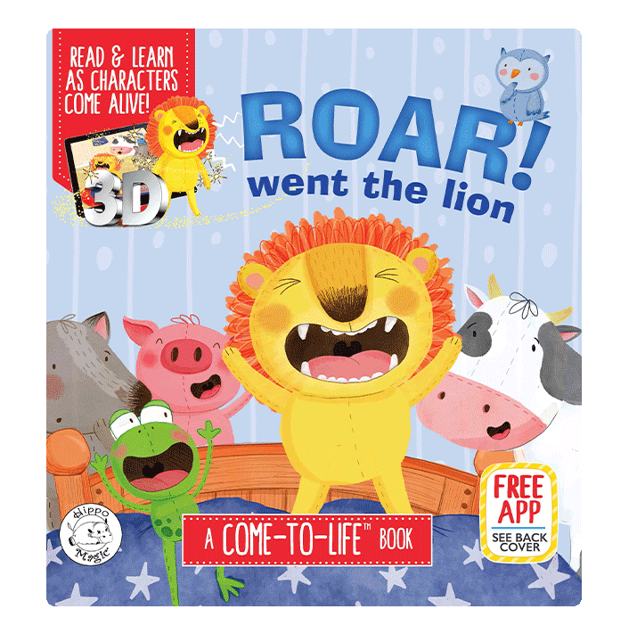 Little Hippo Books Come to Life augmented reality roar went the lion