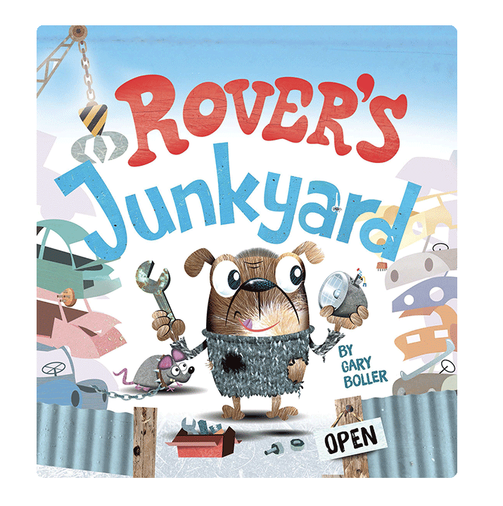 Little Hippo Books Rovers Junkyard Padded Board Children's Book bedtime dogs recycling earth day
