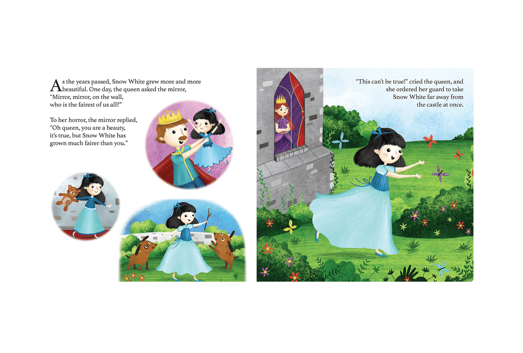 little hippo books classic bedtime padded board book children fairy tale snow white