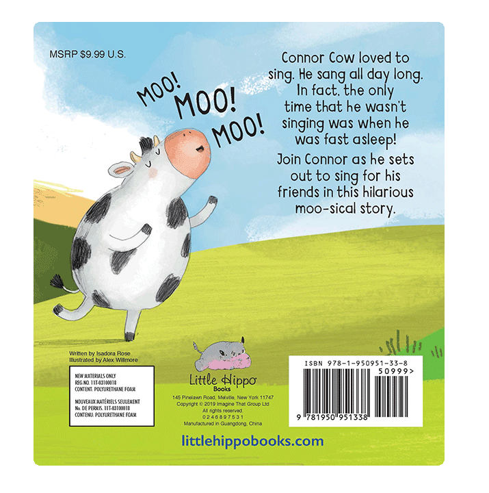 Little Hippo The Sound of Moo-sic Padded Board Children's Book family love