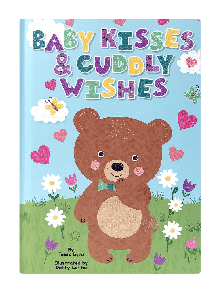 Baby Kisses & Cuddly Wishes Little Hippo Books Girls Boys Family Sparkle