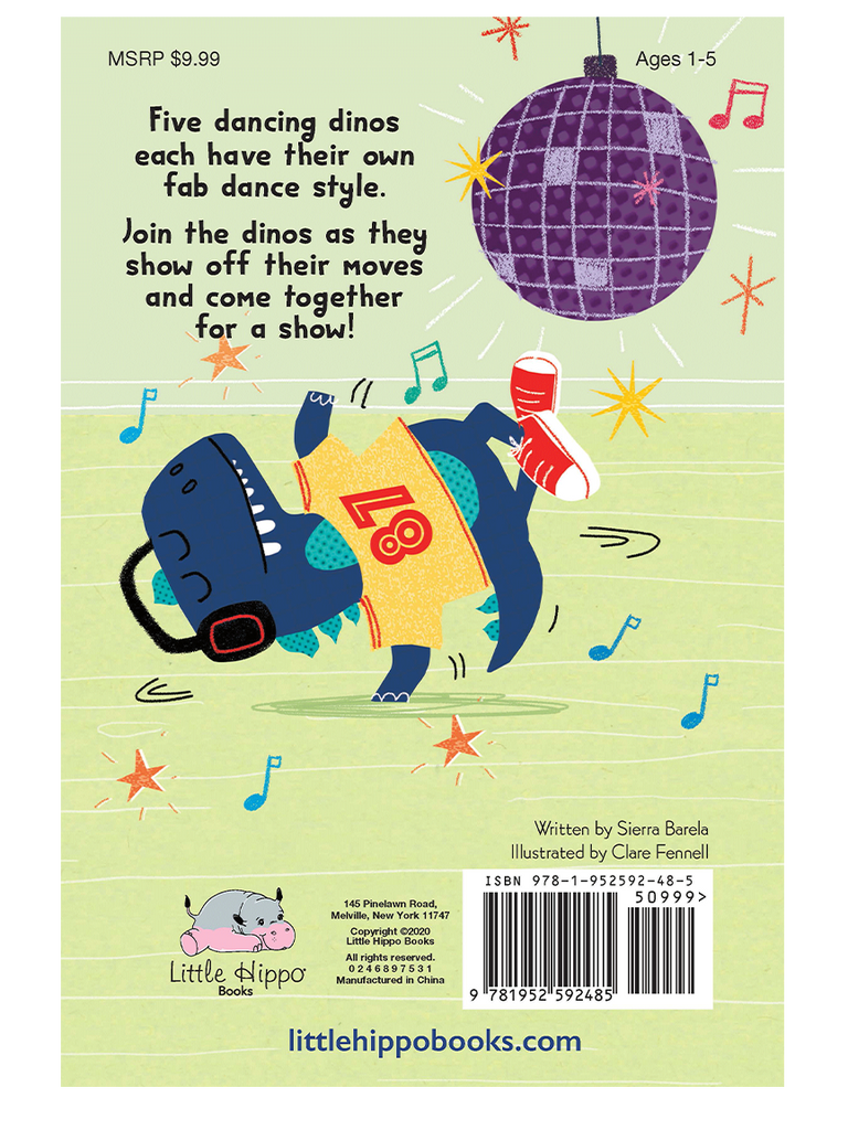 Five Dancing Dinosaurs Little Hippo Books Girls Boys Kids Family Fun