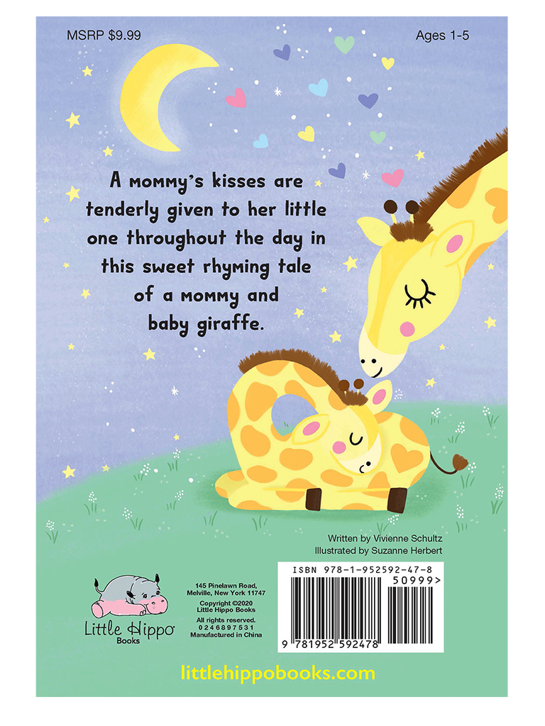 Giraffe's Kisses Little Hippo Books Girls Boys Kids Family Love Friendship