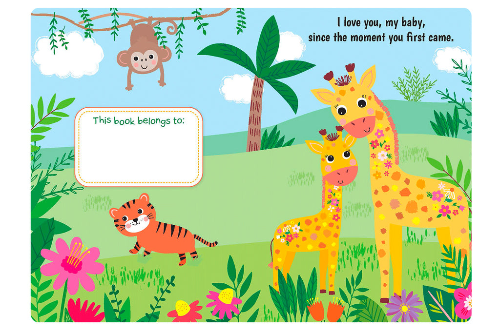 Little Hippo Books I Love You My Baby family baby sparkle giraffe mom