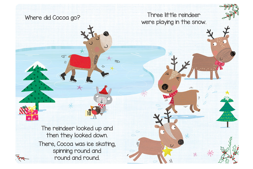 Little Hippo Books Five Little Reindeer family baby sparkle Christmas holiday counting learning