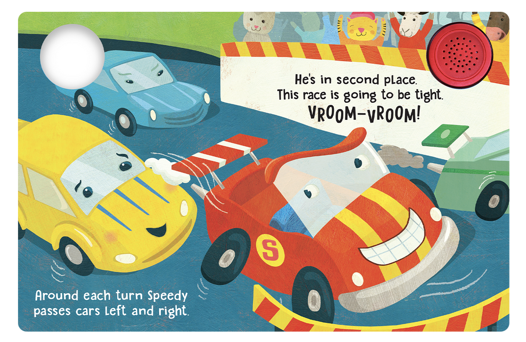 Speedy The Race Car - Little Hippo Books Novelty Book - Children's Board Book - Interactive Fun Child's Book - Book for Boys or Girls