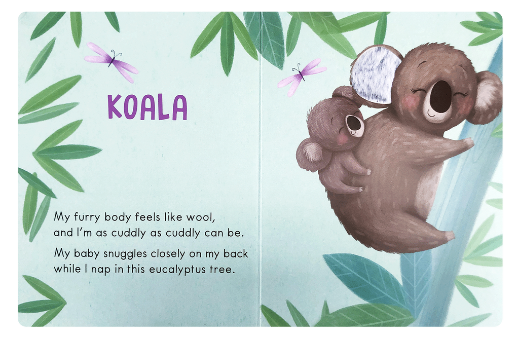 Little Hippo: Touch and Feel Wild Animals Board Book Children Tactile Learning Koalas