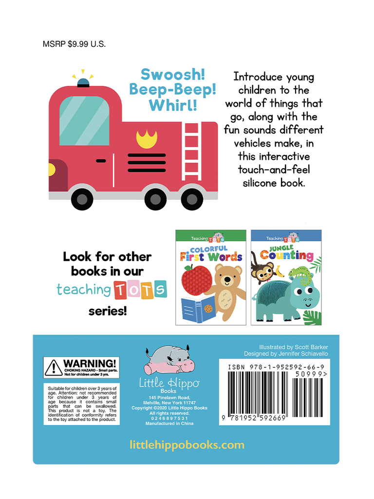 Little Hippo Books Vroom Things That Go Silicone Touch and Feel Book