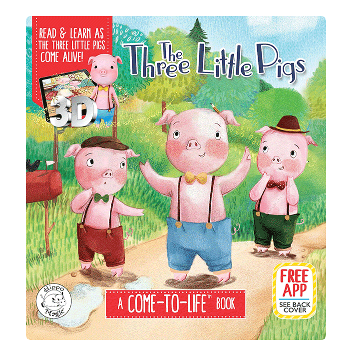 little hippo books classic bedtime padded board book children fairy tale come to life three little pigs