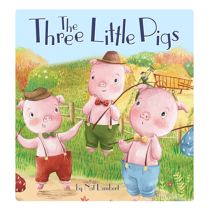 little hippo books classic bedtime padded board book children fairy tale three little pigs