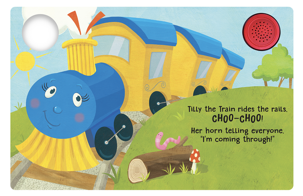 Tilly The Train  - Little Hippo Books Sound Book - Children's Board Book - Interactive Fun Child's Book - Book for Boys or Girls
