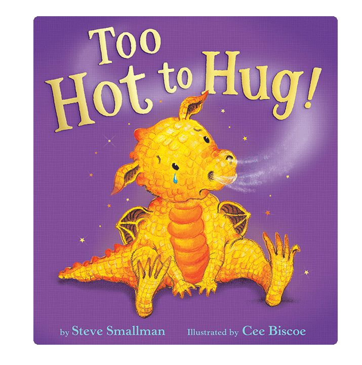 Little Hippo Too Hot to Hug Padded Board Children's Book dragon family